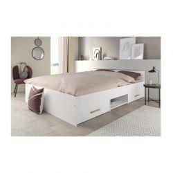 Διπλό Ξύλινο Κρεβάτι με Αποθηκευτικό Χώρο 160 x 200 cm Idomya 30101039