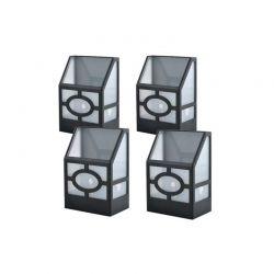Ηλιακά Φώτα Φράχτη με Λευκό LED Φωτισμό 4 τμχ Hoppline HOP1000963-1