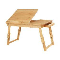 Ξύλινο Βοηθητικό Πτυσσόμενο Τραπέζι Πολλαπλών Χρήσεων με Βάση για Laptop Songmics LLD01N