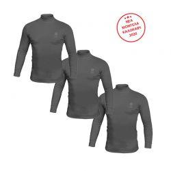 Σετ Ανδρικές Μακρυμάνικες Μπλούζες Ζιβάγκο 3 τμχ Χρώματος Μαύρο Sergio Tacchini LL510N