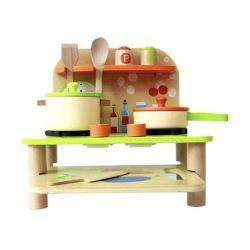 Ξύλινη Παιδική Κουζίνα με Αξεσουάρ SPM R168039