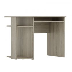 Ξύλινο Γραφείο με Θέση για Υπολογιστή και Πληκτρολόγιο 95 x 60 x 75 cm Χρώματος Καφέ Ανοιχτό Bona SPM JAN-BONAOAK