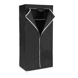 Φορητή Υφασμάτινη Πτυσσόμενη Ντουλάπα Χρώματος Μαύρο 160 x 75 x 45 cm Songmics RYG83H