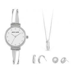 Σετ Κοσμημάτων με Γυναικείο Ρολόι 2 Ζευγάρια Σκουλαρίκια και 1 Κολιέ Pierre Cardin PCX6858L296