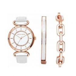 Σετ Κοσμημάτων με Γυναικείο Ρολόι και 2 Βραχιόλια Χρώματος Ροζ - Χρυσό Pierre Cardin PCX5758L250