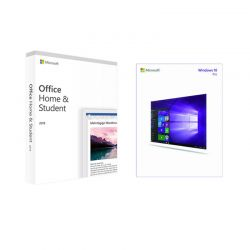 Microsoft Office Home and Student 2019 1 User Medialess + Windows 10 Pro 32/64-bit ESD