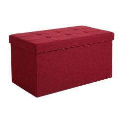 Πτυσσόμενο Σκαμπό με Αποθηκευτικό Χώρο 76 x 38 x 38 cm Χρώματος Κόκκινο Songmics LSF47RD