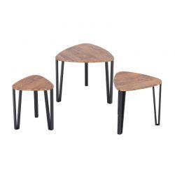 Σετ Μεταλλικά Βοηθητικά Τραπέζια Nesting 56 x 54.2 x 45.4 cm HOMCOM 833-682