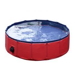 Αναδιπλούμενη Πισίνα για Κατοικίδια 120 x 30 cm PawHut D01-004RD