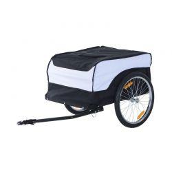 Αναδιπλούμενο Τρέιλερ Ποδηλάτου για Φορτία από Ατσάλι 130 x 77 x 65 cm HOMCOM B71-004