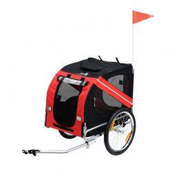 Αναδιπλούμενο Τρέιλερ Ποδηλάτου για Κατοικίδια 130 x 73 x 90 cm PawHut 5663-0062