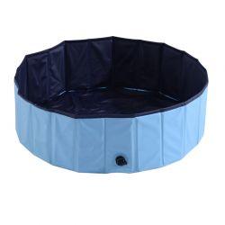 Αναδιπλούμενη Πισίνα για Κατοικίδια 100 x 30 cm Χρώματος Γαλάζιο PawHut D01-012BU