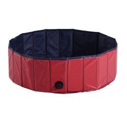 Αναδιπλούμενη Πισίνα για Κατοικίδια 100 x 30 cm Χρώματος Κόκκινο PawHut D01-012RD