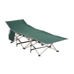 Πτυσσόμενη Μεταλλική Ξαπλώστρα - Κρεβάτι 190 x 68 x 52 cm Χρώματος Πράσινο Outsunny A20-116GN