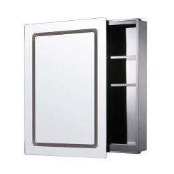 Καθρέπτης Μπάνιου με Ντουλάπι και LED Φωτισμό 76 x 53 x 13 cm HOMCOM 834-049