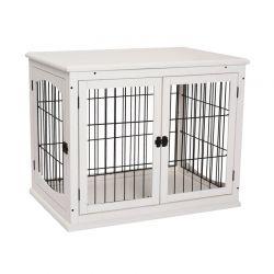Ξύλινο Κλουβί Σκύλου με 3 Πόρτες 66 x 58.5 x 81 cm PawHut D02-040WT