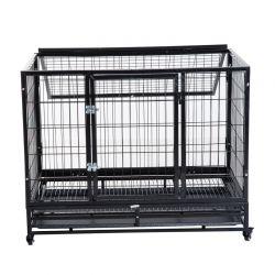 Μεταλλικό Κλουβί Μεταφοράς Σκύλου με Ρόδες 95 x 61.5 x 68.5 cm PawHut D02-020