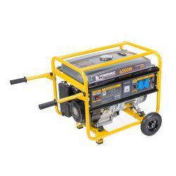 Φορητή Μονοφασική Ηλεκτρογεννήτρια Βενζίνης 6500 W POWERMAT PM-AGR-6500KE-K