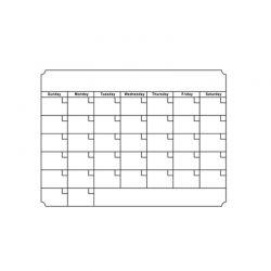 Μαγνητικό Ημερολόγιο Ψυγείου Χρώματος Λευκό SPM FridgePlanCal-WHT