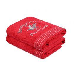 Σετ με 2 Πετσέτες Προσώπου 50 x 90 cm Χρώματος Κόκκινο Beverly Hills Polo Club 355BHP2358
