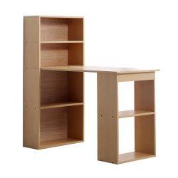 Ξύλινο Γραφείο με Βιβλιοθήκη 120 x 55 x 120 cm HOMCOM 836-069