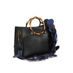 Γυναικεία Τσάντα Χειρός με Λουράκι Χρώματος Μαύρο Beverly Hills Polo Club 712 657BHP0889
