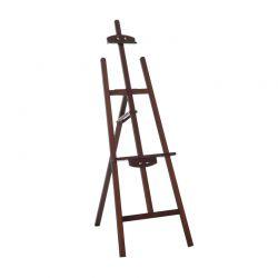 Ξύλινο Αναδιπλούμενο Καβαλέτο Ζωγραφικής 60 x 46 x 140 cm Χρώματος Καφέ HOMCOM 914-020CF