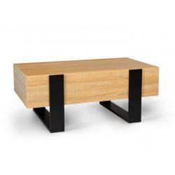 Ξύλινο Τραπέζι Σαλονιού με 2 Συρτάρια 100 x 58 x 40 cm Idomya 30084310