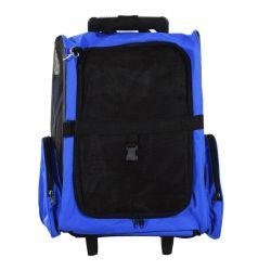 Σακίδιο Πλάτης - Τρόλεϊ για Μεταφορά Κατοικίδιων Χρώματος Μπλε PawHut D1-0011