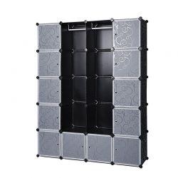 Σύστημα Αποθήκευσης - Ντουλάπα με 12 Κύβους και 2 Ράγες 143 x 178 x 36 cm Songmics LPC30H