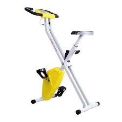 Αναδιπλούμενο Ποδήλατο Γυμναστικής Χρώματος Κίτρινο HOMCOM A90-149YL