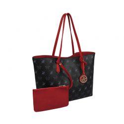 Γυναικεία Τσάντα Χειρός Χρώματος Μαύρο Beverly Hills Polo Club 790 657BHP0805