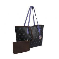 Γυναικεία Τσάντα Χειρός Χρώματος Μαύρο Beverly Hills Polo Club 790 657BHP0806