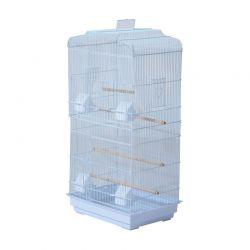 Μεταλλικό Κλουβί Πτηνών 47.5 x 36 x 91 cm Χρώματος Λευκό PawHut D10-018WT