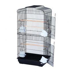 Μεταλλικό Κλουβί Πτηνών 47.5 x 36 x 91 cm Χρώματος Μαύρο PawHut D10-018BK