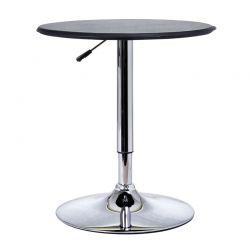Μεταλλικό Στρογγυλό Τραπέζι με Ρυθμιζόμενο Ύψος και Ξύλινη Επιφάνεια 63 x 67-93 cm HOMCOM 02-0071