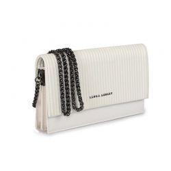 Γυναικεία Τσάντα Ώμου Χρώματος Λευκό Laura Ashley Dudley - Stick 651LAS1737