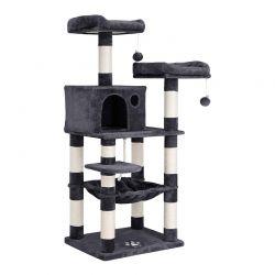Δέντρο Γάτας - Ονυχοδρόμιο 55 x 45 x 143 cm Χρώματος Σκούρο Γκρι Feandrea PCT15GYZ