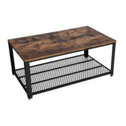 Μεταλλικό Τραπέζι Σαλονιού 106.2 x 60.2 x 45 cm Χρώματος Μαύρο VASAGLE LCT61X