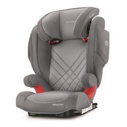 Παιδικό Κάθισμα Αυτοκινήτου Χρώματος Γκρι για Παιδιά 15-36 Kg Recaro Monza Nova 2 SeatFix Aluminium 61512150366