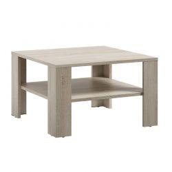 Ξύλινο Τραπέζι Σαλονιού 68 x 68 x 41 cm Χρώματος Καφέ Ανοιχτό SPM Lana JAN-LANAOAK
