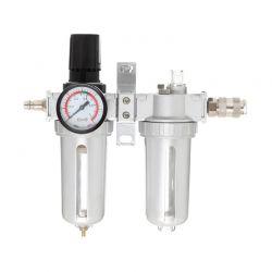 """Ρυθμιστής Πίεσης Αέρος με Υδατοπαγίδα και Ελαιωτήρα 1/4 """" TAGRED TA139"""