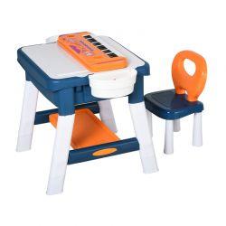 Παιδικό Τραπέζι Δραστηριοτήτων με Πιάνο και Καρέκλα HOMCOM 312-018