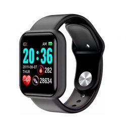 Smartwatch L18 με Μετρητή Καρδιακών Παλμών Χρώματος Μαύρο SPM