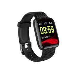 Smartwatch με Μετρητή Καρδιακών Παλμών Χρώματος Μαύρο Smart Band 116 SPM M116