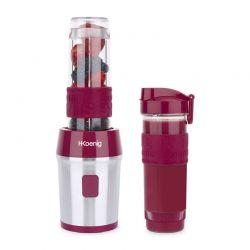 Μπλέντερ με 2 Κανάτες - Ποτήρια Χρώματος Ροζ H.Koenig SMOO10