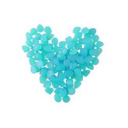 Διακοσμητικές Πέτρες που Λάμπουν στο Σκοτάδι Χρώματος Μπλε 100 τμχ SPM 8768