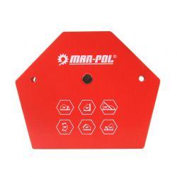 Εξάγωνη Μαγνητική Γωνία Συγκράτησης Μετάλλων για Ηλεκτροσυγκόλληση έως 35 Kg MAR-POL Μ79414