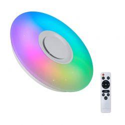 Έξυπνη Λάμπα Οροφής με LED Πολύχρωμο Φως και Τηλεχειριστήριο Hoppline HOP1001093