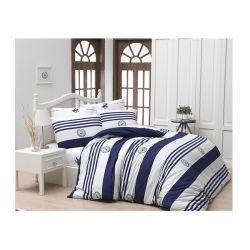 Σετ Μονή Παπλωματοθήκη με Μαξιλαροθήκη και Σεντόνι 160 x 220 cm Beverly Hills Polo Club 003 Χρώματος Μπλε